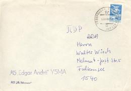 Schiffspostbeleg MS Edgar Andre 10.6.1988 - 1923-1991 USSR