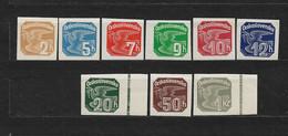 Czechoslovakia 1937 MNH ** Mi 364-372 Sc P17-P25 Newspaper Stamps, Zeitungsmarken. Tschechoslowakei. C13 - Czechoslovakia