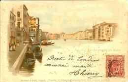 ITALIE VENISE VENEZIA GRAND CANAL DU RIALTO CARTE IMPRIMEE EN ALLEMAGNE EN 1899 - Venezia