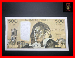 FRANCE 500 Francs  3.2.1977   P. 156  P.h.   XF - 500 F 1968-1993 ''Pascal''