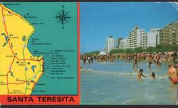 Argentina - Carte Postale - 1982 - Santa Teresita - Mapa De Referencia - Playa Y Edificios - Non Circulé - A1RR2 - Argentina
