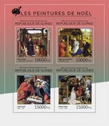 GUINEA 2014 SHEET CHRISTMAS PAINTINGS PEINTURES DE NOEL RELIGION Gu14503a - Guinee (1958-...)