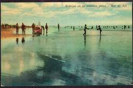 Argentina - Carte Postale - 1973 - Reflejos En La Inmensa Playa - Mar De Ajó - Non Circulé - A1RR2 - Argentina