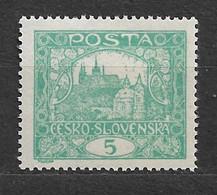 Czechoslovakia 1918 MNH ** Mi 24 D Gez. Sc 25 Hradcany At Prague. Tschechoslowakei  C1 - Czechoslovakia