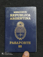 Passport / Passeport - Pasaporte - Argentina - Mercosur - Historical Documents