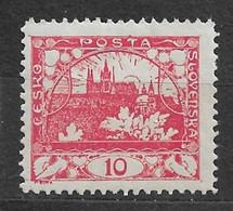Czechoslovakia 1918 MNH ** Mi 3 A Gez. Sc 3 Hradcany At Prague Tschechoslowakei C5 - Czechoslovakia