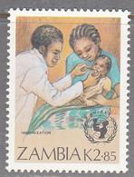 ZAMBIA    SCOTT NO 442    MNH     YEAR  1988 - Zambie (1965-...)