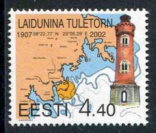 """TIMBRE** De 2002 D'ESTONIE """"LE PHARE DE TULETORN"""" - Lighthouses"""