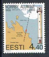 """TIMBRE** De 2005 D'ESTONIE """"PHARE DE NOORBY"""" - Lighthouses"""