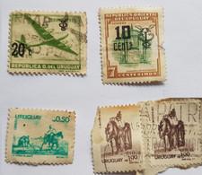 MATRERO BLANES, LA YERRA, CIUDADELA MONTEVIDEO, CORREO AEREO, URUGUAY 5 SELLOS - 5 STAMPS - Uruguay