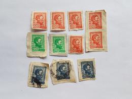 GENERAL JOSE GERVASIO ARTIGAS, URUGUAY 11 SELLOS, IMP. MEDINA 11 STAMPS  50$  100$  200$ - Uruguay