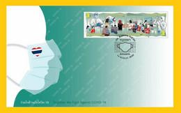 Thailand Covid-19 FDC 2020 - Tailandia