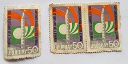 HOMENAJE A LOS CAMPEONES 1930 FUTBOL, MUNDIAL ALEMANIA 1974 FIFA 3 SELLOS,3 STAMPS - Uruguay