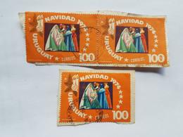 URUGUAY NAVIDAD 1974, 3 SELLOS, 3 STAMPS - Uruguay