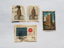 URUGUAY 4 SELLOS, LUIS ALBERTO HERRERA 1973, CIRCULO FILATELICO, SAN PABLO 1954 - Uruguay