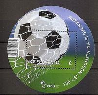 SLOVENIA 2020, Football Fussball Soccer Calcio; 100 Years Of Slovenia Football Association,BLOCK,MNH - Slowenien