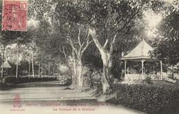 CAMBODGE Phom Penh Le Kiosque De La Musique Au Jardin De La Ville + Beau Timbre 10 Indochine Francaise  Recto Verso - Cambodia