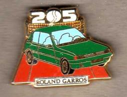 Pin's 205 Peugeot Roland Garros  Zamac Arthus Bertrand - Arthus Bertrand