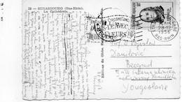 Timbre 18F Franklin (N° 1085) Seul Sur Carte Postale Pour La Yougoslavie - 1921-1960: Modern Period