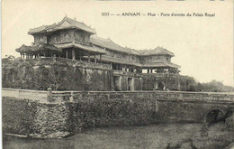 ANNAM Hué Porte D' Entrée Du Palais Royal Recto Verso - Vietnam