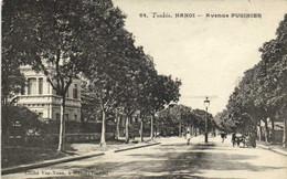 Tonkin HANOI  Avenue PUGINIER  Recto Verso - Vietnam
