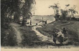 Tonkin HANOI  Grand Lac Irrigation La Vie Aux Champs  Recto Verso - Vietnam