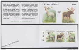 Czech Republic - Tcheque 1998 Yvert C175 (Tipe II) Protection Of Nature, Rare Animals - Booklet - MNH - Unused Stamps