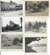 France/Belgique 1940: 10 Photos Diverses Prises Par Soldats Allemands - Guerre, Militaire