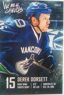 Canucks Vancouver Derek Dorsett - 2000-Nu