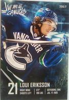 Canucks Vancouver Loui Eriksson - 2000-Nu