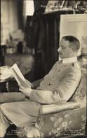 CPA Prince Johann Georg Von Saxe In Seinem Arbeitszimmer, Portrait - Königshäuser