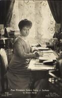 CPA Princesse Johann Georg Von Saxe In Ihrem Heim, Schreibtisch, Portrait - Königshäuser