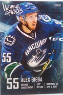 Canucks Vancouver Alex Biega - 2000-Nu