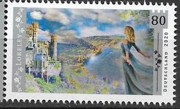 2020  Deutschland Allem. Fed.Mi. 3567**MNH  Loreley, Auf Burg Rheinstein In Das Flusstal Blickend - Nuevos
