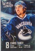 Canucks Vancouver Chris Tanev - 2000-Nu