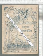 PG / Vintage //  Programme Ancien THEATRE  CHATEAU D'EAU 1902 @@  NAPOLEON @@ Art Nouveau - Programmes