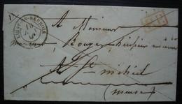 Ligny-en-Barrois (Meuse) 1848 Port Payé Pour Saint Mihiel, Sans Correspondance - 1801-1848: Precursors XIX
