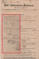 Preussen - Stettin 26/11 (1853) Post-Insinuationsdokument N. Wittenberg - Conf. De L' All. Du Nord
