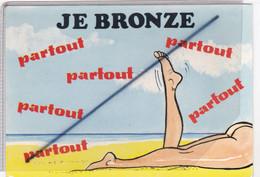 Humour à La Plage ; Je Bronze ...partout....partout...partout...(naturisme ,fesses à L'air ) - Humour