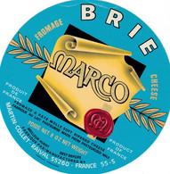 ETIQUETTE FROMAGE -  BRIE  -  MARCO -  Fab En MEUSE  55-S  - EXPORT - Käse