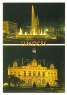 87 - Limoges - Place De La République Et Eglise Saint Pierre Du Queyroix, L'Hôtel De Ville - Multivues - Limoges