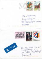Belgium 2 Covers Sent To Denmark - Cartas