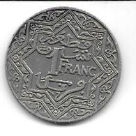Maroc, 1 Franc 1924 Poissy (1010) - Marocco