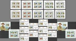 BU196 IMPERF,PERF 2013 BURUNDI BUTTERFLIES & SCOUTING BOY SCOUTS 12KB+12BL MNH - Mariposas
