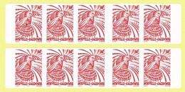 Nouvelle Caledonie New Caledonia Timbre Autocollant Oiseau Bird Cagou Bande Distrributeur 909A 2 Bandes NON Date 2003 TB - Markenheftchen