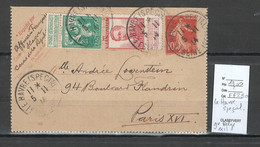 France -Carte  Lettre - Le Havre Spéçial - Gouvernement Belge En Exil - 1914 - Guerra De 1914-18
