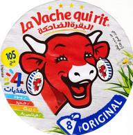 ETIQUETTE FROMAGE - FONDU POUR TARTINE - VACHE QUI RIT -  8 PORTIONS -  Num  760 41854 - Cheese