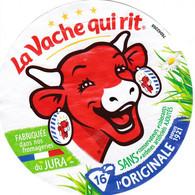 ETIQUETTE FROMAGE - FONDU POUR TARTINE - VACHE QUI RIT -  16 PORTIONS -  Num  760 42268 - Cheese