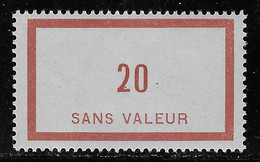 TIMBRES FICTIFS EMISSION DE 1932 N° F22 20 CHAUDRON NEUF ** RARE TTB COTE 42 € - Finti