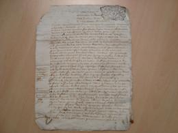 CACHET DE GENERALITE 16 DENIER ORLEANS 24 JUILLET 1723 - Gebührenstempel, Impoststempel